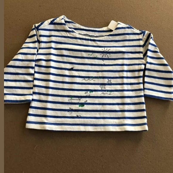 Gymboree Other - Gymboree Baby Striped Top - Shark/Ocean